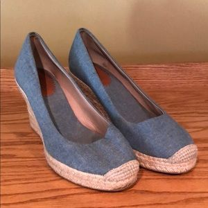 J Crew chambray wedge